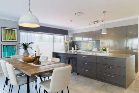 Allworth Homes. Industrial Chic display home