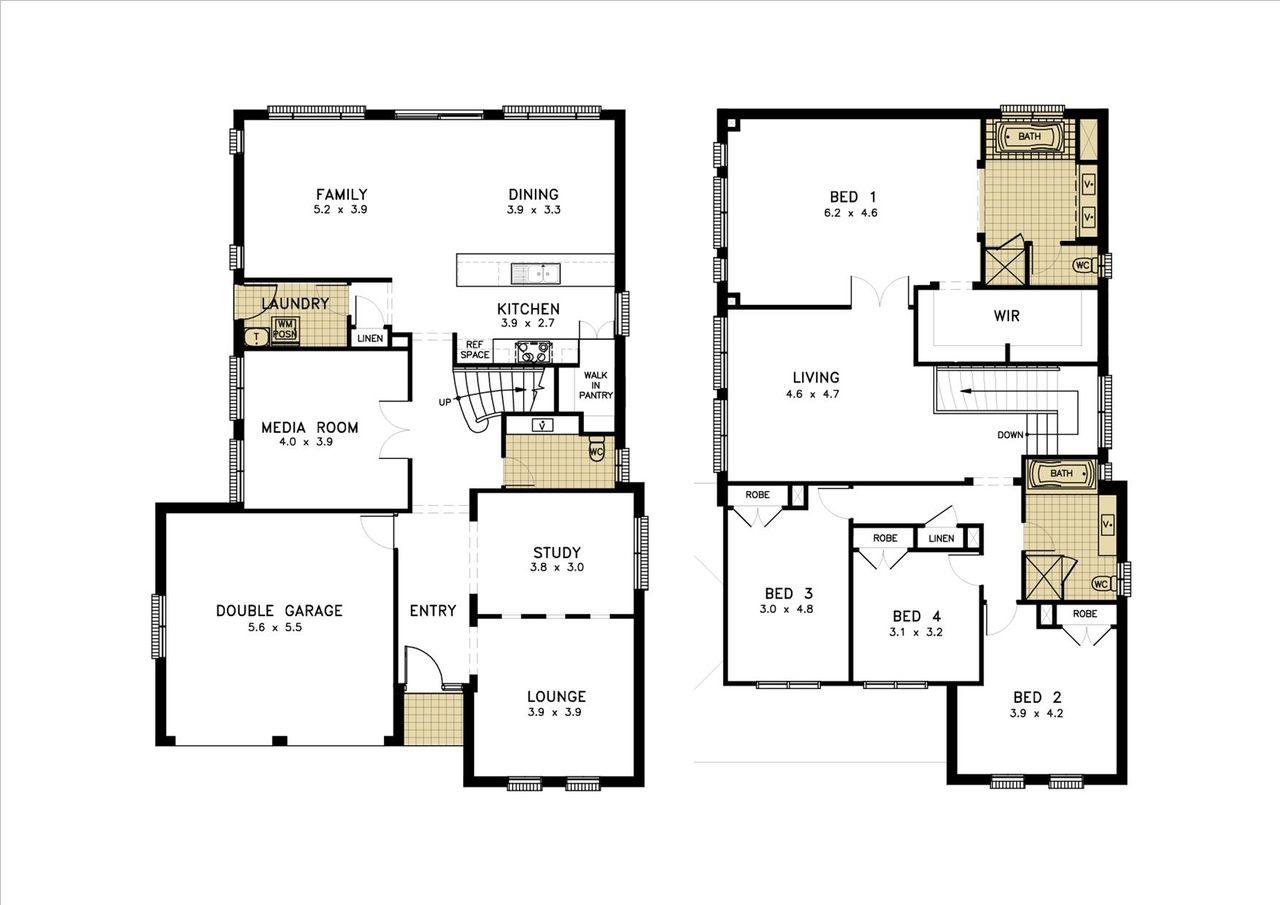 4 Bedroom Ensuite House Plan Www Crboger 4 Bedroom