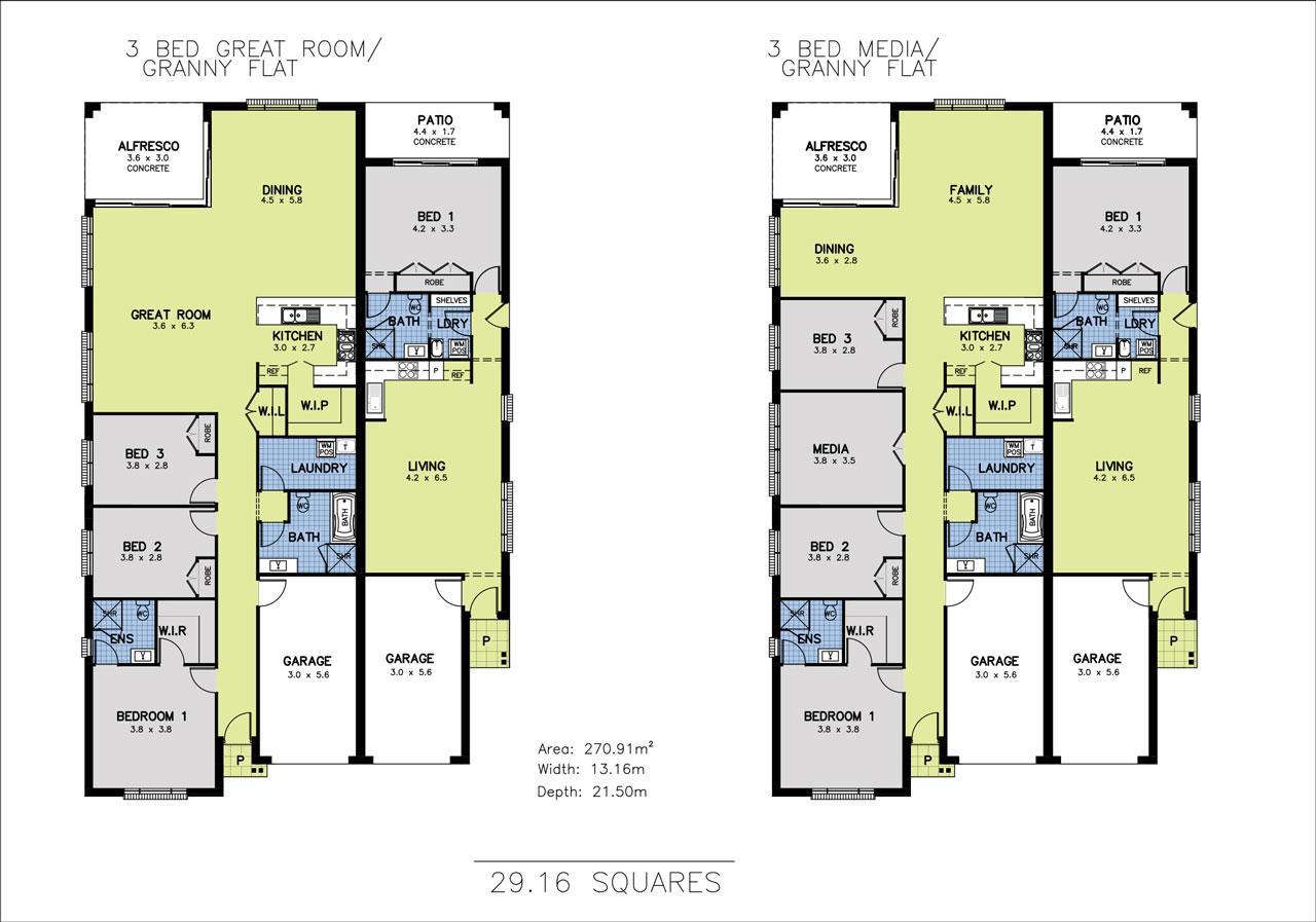 Allworth Homes Mondello Duet 3 Bed Great Media Plan Coloured Allworth Homes