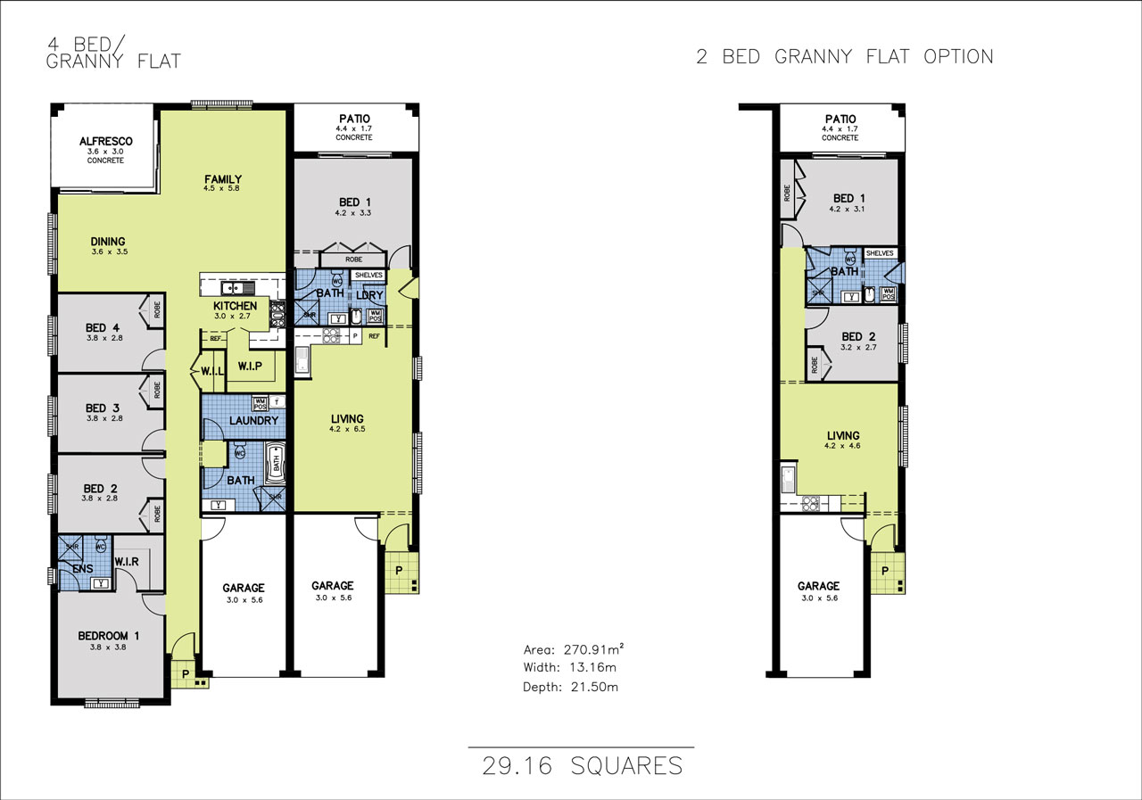 Allworth homes mondello duet - Home design with attached granny flat ...